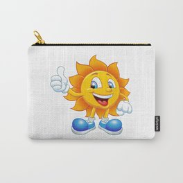 smiling sun cartoon Carry-All Pouch