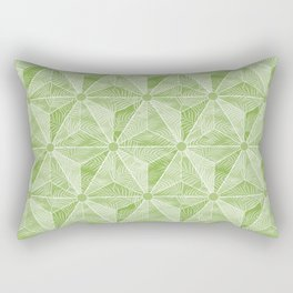 Geodesic Palm_Green Rectangular Pillow