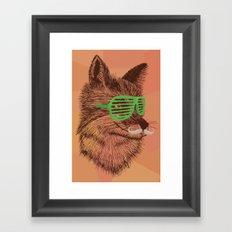 Hipster Fox Framed Art Print