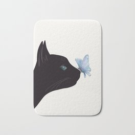 Cat and Butterfly Bath Mat
