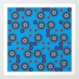 Bullseye Blue Art Print