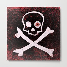 Jolly Roger With Eyeballs Metal Print