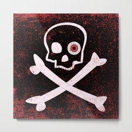 Jolly Roger With Eyeballs Metal Print