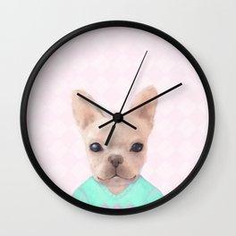 Portrait Of French Bull Dog Wall Clock