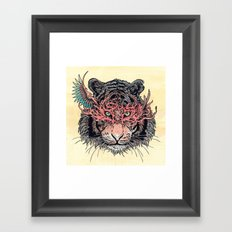 Masked Tiger Framed Art Print