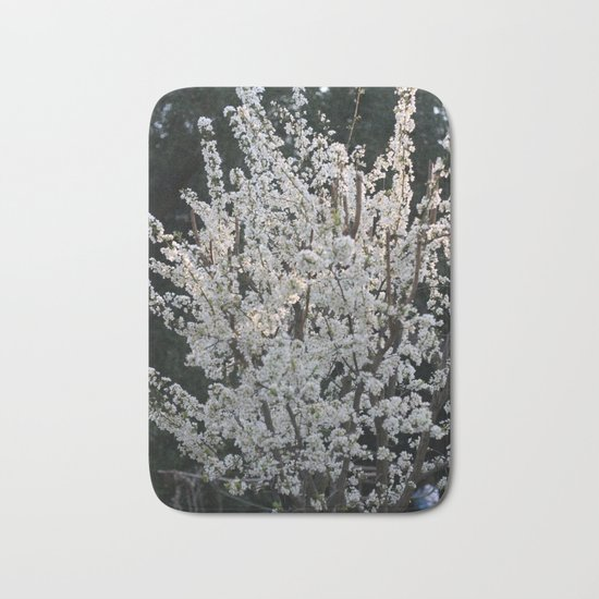 Plum in bloom Bath Mat
