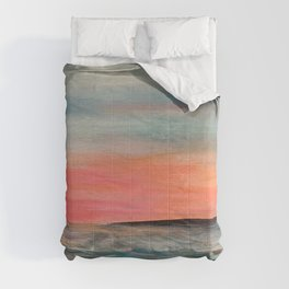 Pacific sunset  Comforters