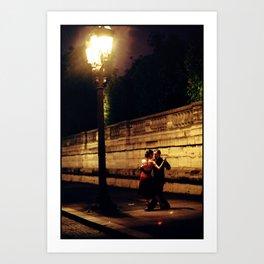 Tango in the Rain Art Print