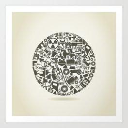 Industry a sphere Art Print