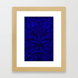 Bud buggin blue Framed Art Print