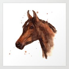 Watercolor HORSE painting, horses, hore art, stallion Art Print