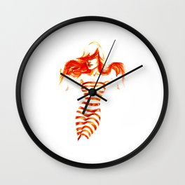 Fiery Water Faery Wall Clock