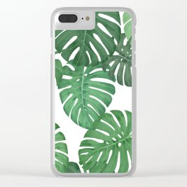 MONSTERA JUNGLE, by Frank-Joseph Clear iPhone Case