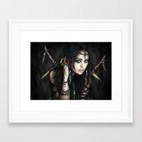 gypsy Framed Art Prints featuring Gypsy by Justin Gedak