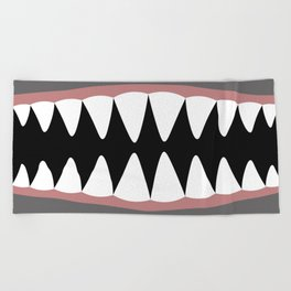 Shark Teeth, Monster, Dinosaur, Alien Beach Towel