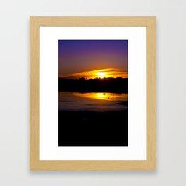 Marsh Sunset Framed Art Print