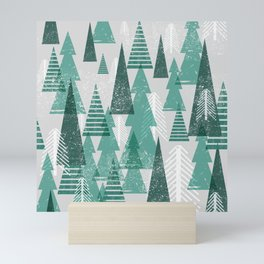 Festive Tree Pattern Mini Art Print