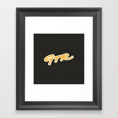 McLaren GTR Racing Framed Art Print