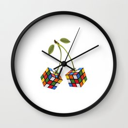Cherry rubik Wall Clock