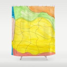 Effortless Watercolor Shower Curtain