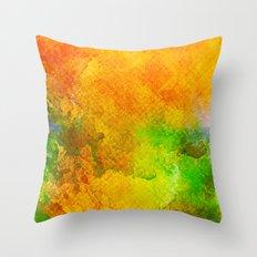 Orange Orchard Throw Pillow