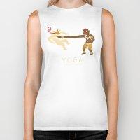 yoga Biker Tanks featuring yoga. by Louis Roskosch
