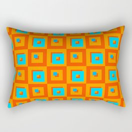 Square Psychedelia Rectangular Pillow