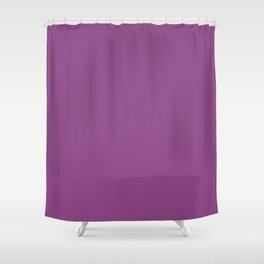 Plum Purple Solid Color Shower Curtain