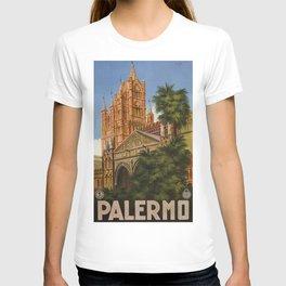 vintage Palermo Sicily Italian travel ad T-shirt