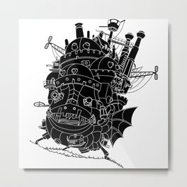 Howl's moving castle. Metal Print