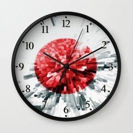 Japanese Flag Extrude Wall Clock