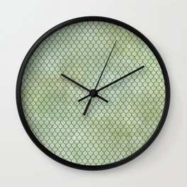 Mermaid Tail Pattern Wall Clock