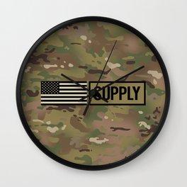 Supply (Camo) Wall Clock