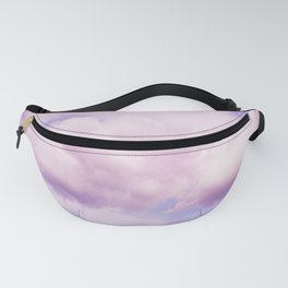 Pink Clouds In The Blue Sky #decor #society6 #buyart Fanny Pack