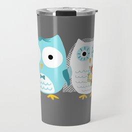Owls Wedding Day | Bride and Groom Travel Mug