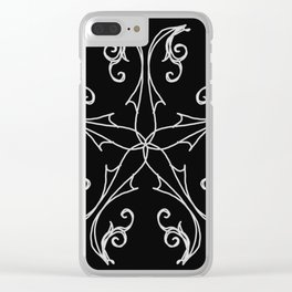 Five Pointed Star Series #6 Clear iPhone Case