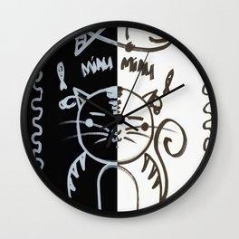 Cat (Black & White) Wall Clock