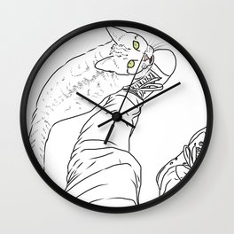 Everything I know I learned from my cat Wall Clock