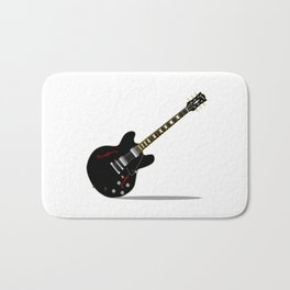 Black Semi Solid Guitar Bath Mat