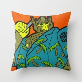 Opti-Maui Prime - tiki pop art Throw Pillow