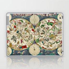 De Wit's Celestial Hemispheres, North and South, 1670 Laptop & iPad Skin