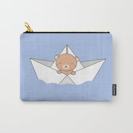Kawaii Cute Brown Bear On A Boat Carry-All Pouch