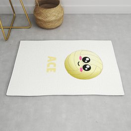I'm All About The Ace Cute Volleyball Pun Rug