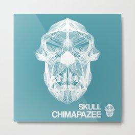 Skull Collection - Chimapazee - Metal Print