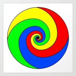 colorful fractal sphere Art Print