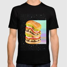 Big Burger Mens Fitted Tee SMALL Black
