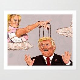 Stormy Daniels vs. Donald Trump Art Print