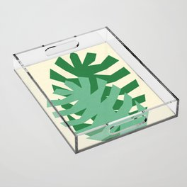 Two Leafs Acrylic Tray