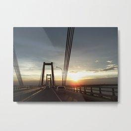 The Lake Maracaibo Bridge - II Metal Print
