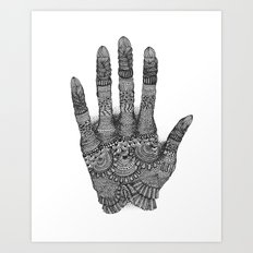 the Creating Hand Art Print